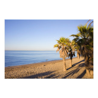 Morning at Marbella Beach in Spain Photo Art