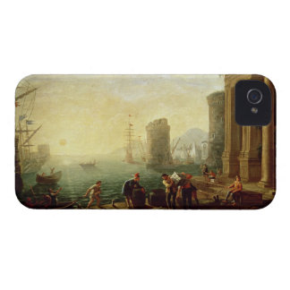 Morning at the Port, 1640 (oil on canvas) iPhone 4 Case-Mate Cases