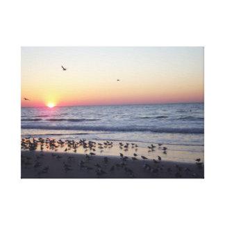 MORNING BEACH SUNRISE CANVAS PRINT