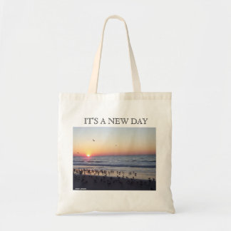 MORNING BEACH SUNRISE TOTE BAG