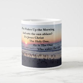 MORNING BEACH SUNRISE VERSE LARGE COFFEE MUG