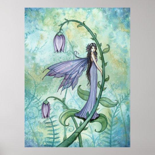 Morning Bell Fairy Fantasy Poster Print