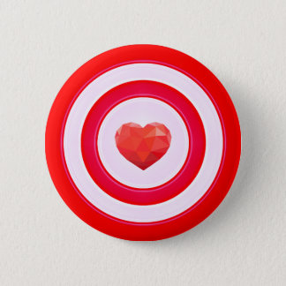 Morning call in the heart 6 cm round badge