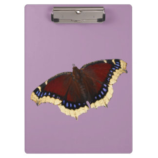 Morning cloak butterfly design clipboards