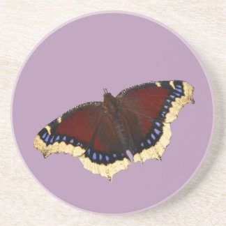 Morning cloak butterfly design coasters
