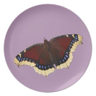 Morning cloak butterfly design dinner plates