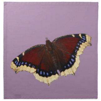 Morning cloak butterfly design napkins