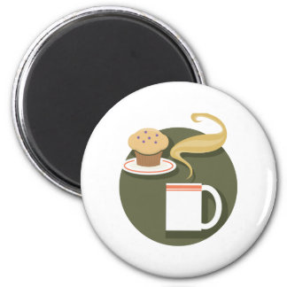 morning coffee and muffin magnets