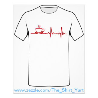 Morning Coffee Heartbeat EKG 11.5 Cm X 14 Cm Flyer