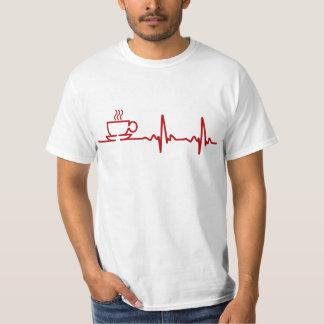 Morning Coffee Heartbeat EKG Shirts