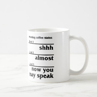 Morning Coffee Status Coffee Mug