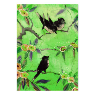Morning Colors: Bird Painting in Green and Gold Pack Of Chubby Business Cards
