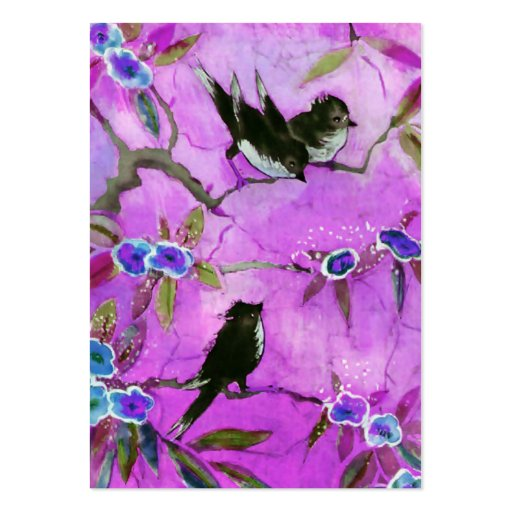 Morning Colors: Bird Painting in Lilac and Purple Business Card Template