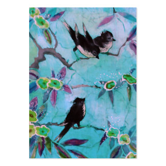 Morning Colors: Bird Painting in Turquoise & Green Pack Of Chubby Business Cards