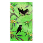 Morning Colours: Bird Painting in Green and Gold