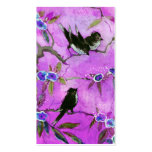 Morning Colours: Bird Painting in Lilac and Purple