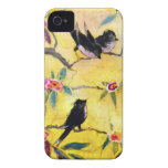 Morning Colours: Bird Painting in Yellow and Pink