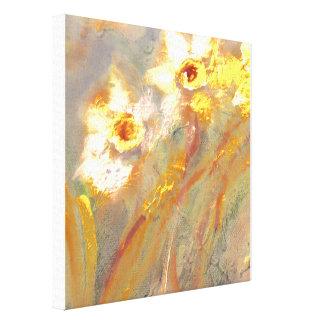 Morning Daffodils Canvas Print