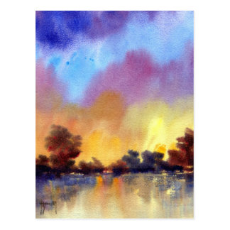 Morning Dawn in Watercolour Post Card