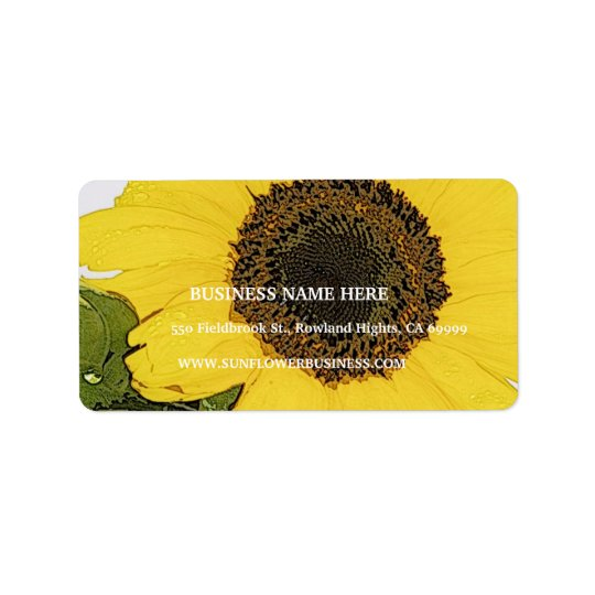 Morning Dew Sunflower Address Label