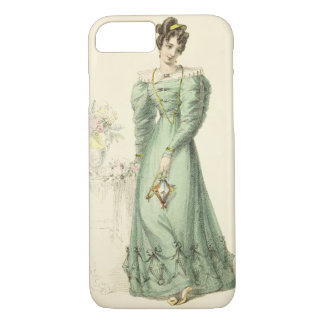 Morning Dress, fashion plate from Ackermann's Repo iPhone 8/7 Case