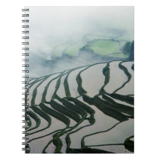 Morning Fog Above Rice Fields Notebook