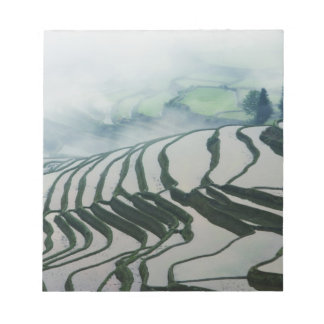 Morning Fog Above Rice Fields Notepad
