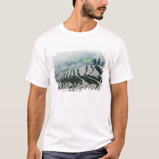 Morning Fog Above Rice Fields T-Shirt