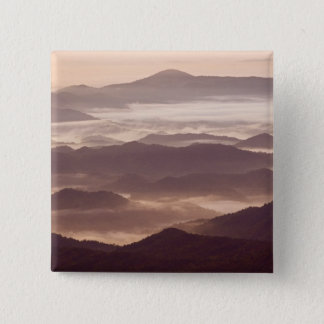 Morning fog in the southern Appalachian 15 Cm Square Badge