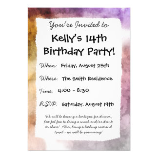 Morning Fog Personalized Invitations
