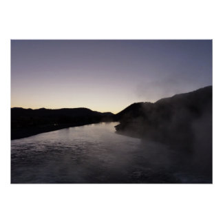Morning Fog on the Jackson River at Grand Teton Poster