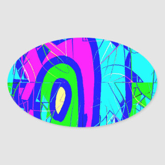Morning Four C Oval Sticker