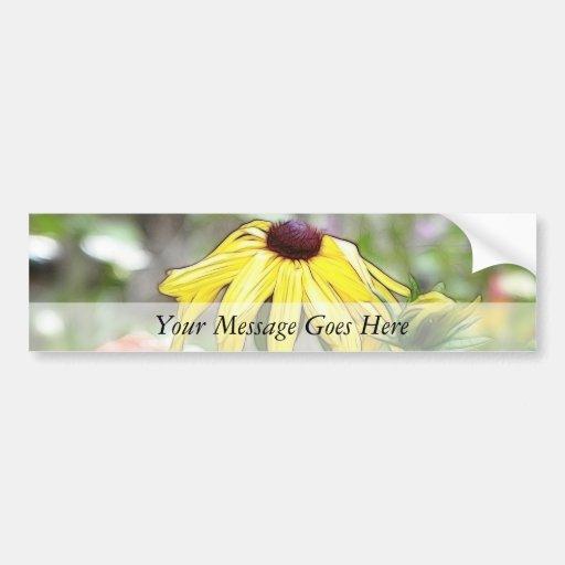 Morning Garden - Black Eyed Susan Bumper Stickers
