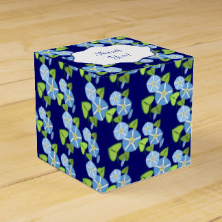Morning Glories Abstract Pattern Favour Box