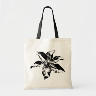 Morning Glory Black And White Canvas Bags