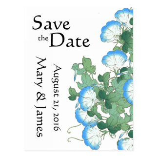 Morning Glory Flower Floral Japan Save the Date Postcard