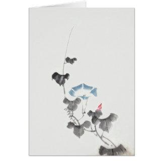 Morning Glory Hokusai Japanese Fine Art Note Card
