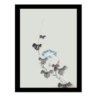 Morning Glory Hokusai Japanese Fine Art Postcard