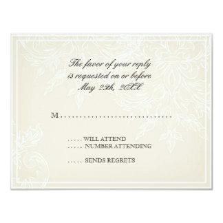 Morning Glory Hydrangea Wedding RSVP Response Card 11 Cm X 14 Cm Invitation Card