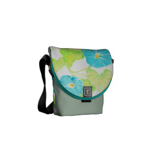 Morning Glory (Jade/Turquoise) Courier Bags