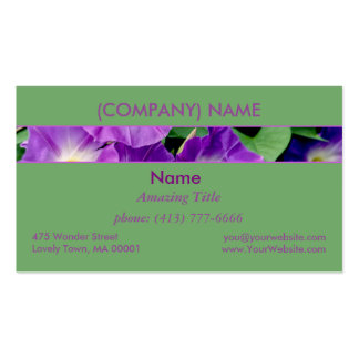 Morning Glory, Purple Flowers Green Leaves Vine Pack Of Standard Business Cards