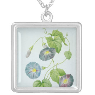 Morning Glory Silver Plated Necklace