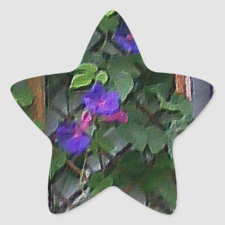 Morning Glory Star Sticker