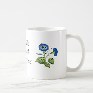 Morning Glory Start the Day with Affirmations Basic White Mug