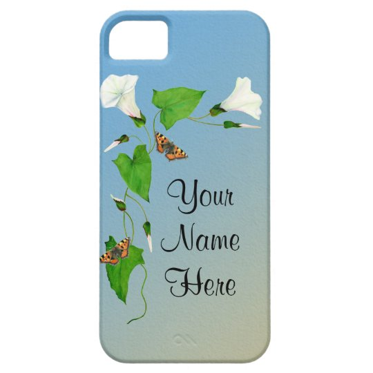 Morning Glory Tortoiseshell Butterfly Phone Case