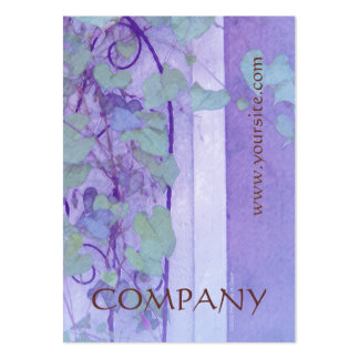 Morning Glory Trellis Purple Green Pack Of Chubby Business Cards