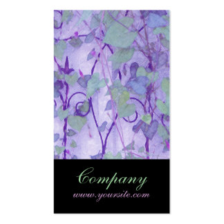 Morning Glory Trellis Purple Green Pack Of Standard Business Cards