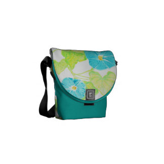 Morning Glory (Turquoise) Commuter Bags