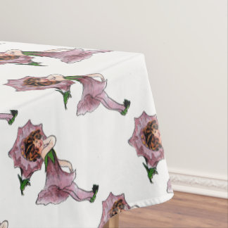 Morning Glory Vintage Cute Flower Child Girl Kids Tablecloth