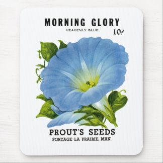 Morning Glory Vintage Seed Packet Mouse Pad